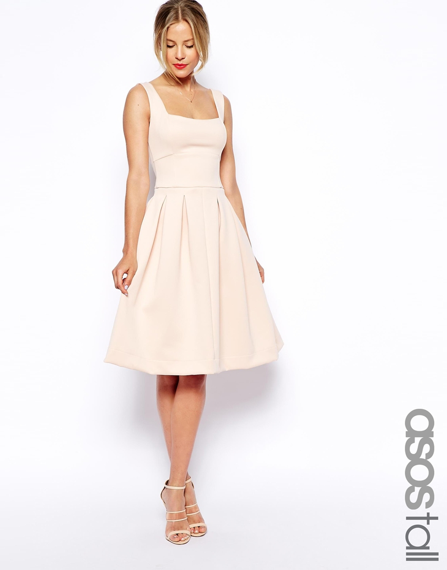 b427f6dff782 Lyst - ASOS Debutante Full Midi Dress in Pink