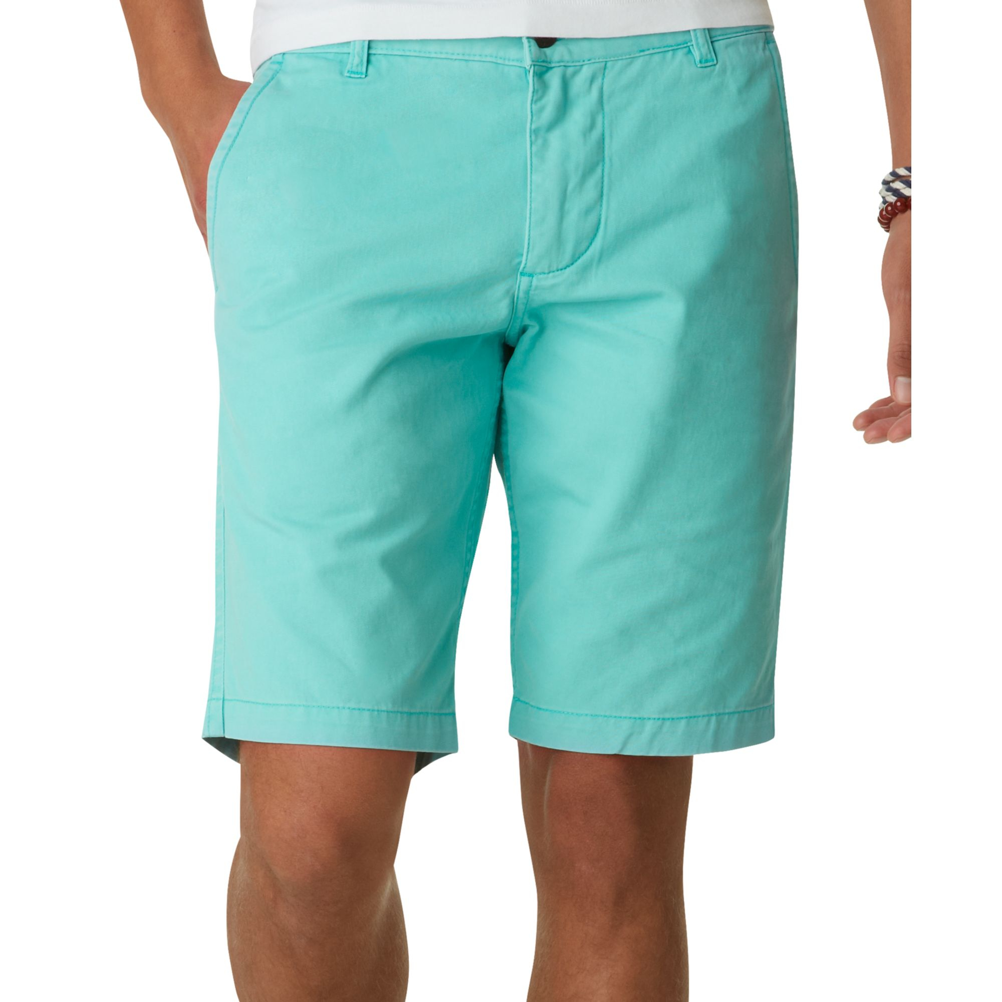 Dockers Alpha Flat Front Khaki Shorts in Blue for Men | Lyst