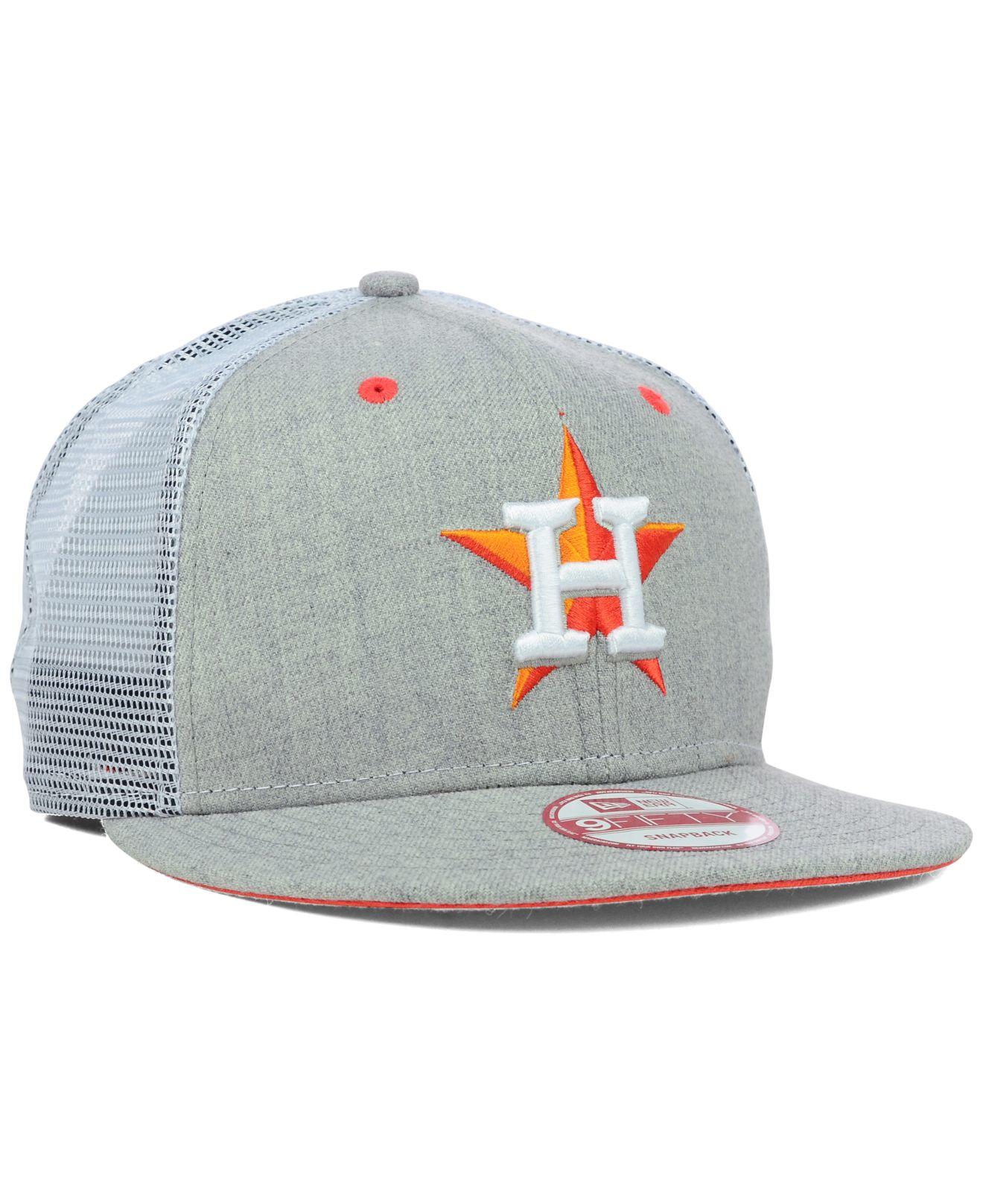 wholesale dealer 04711 dad6d ... australia lyst ktz houston astros heather trucker 9fifty snapback cap in  aa7e3 3ec2e ...