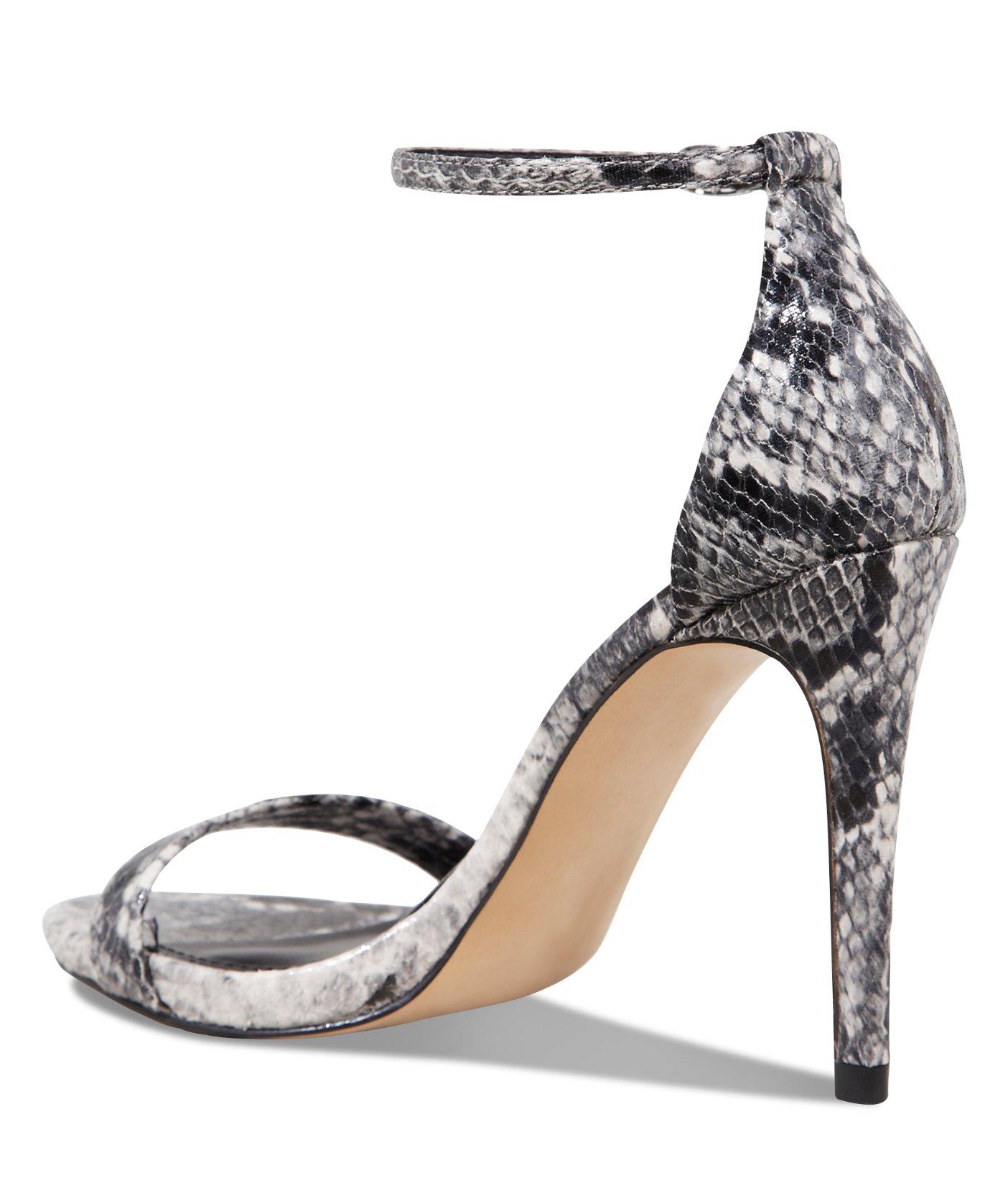 a2dec70618dc51 Lyst express snakeskin print heeled runway sandal jpg 1404x1640 Snake print  shoes for women