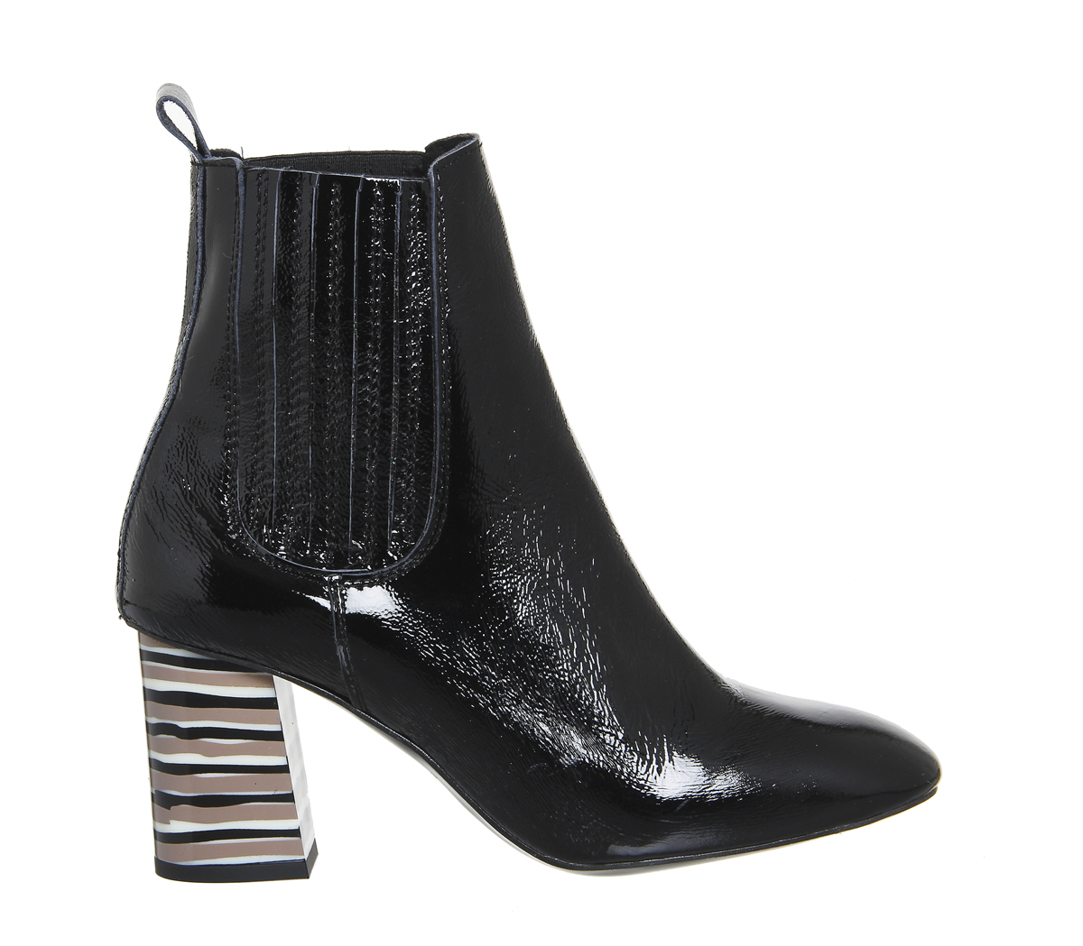 office jealous heeled chelsea boots in black lyst