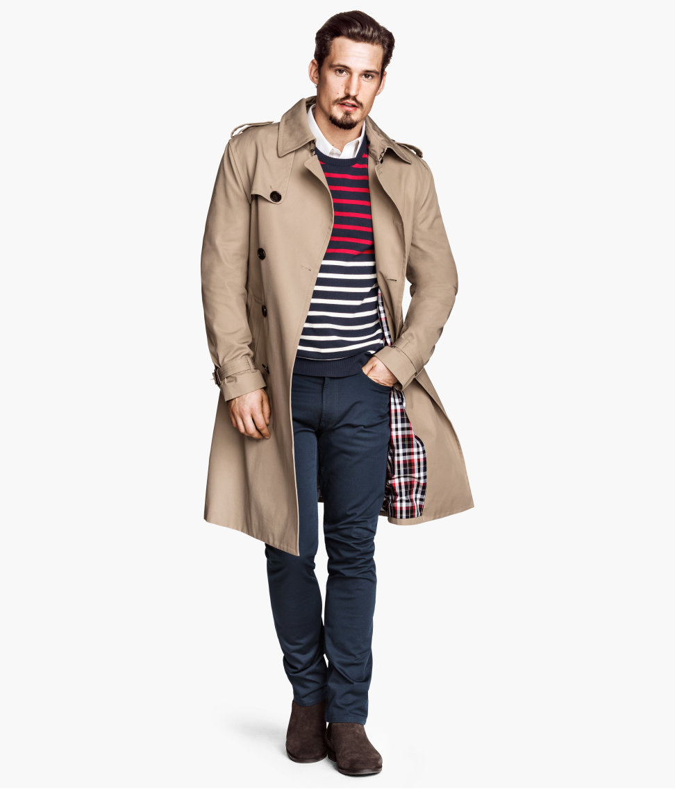H&m Classic Trenchcoat in Natural for Men