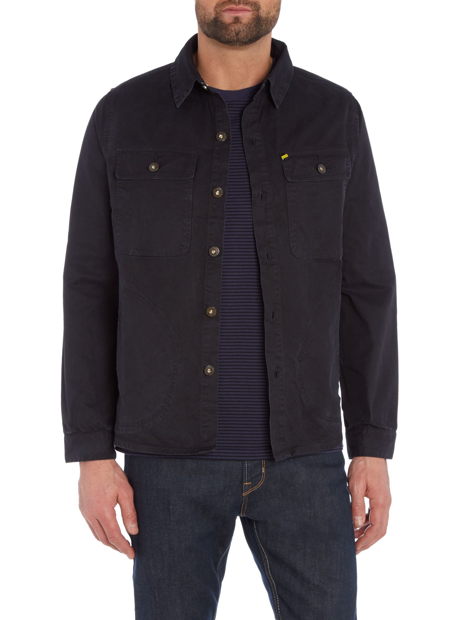 Barbour Aintree Overshirt In Black For Men Lyst