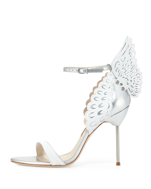 091669ce229 Lyst - Sophia Webster Evangeline Angel Wing Sandals in Metallic