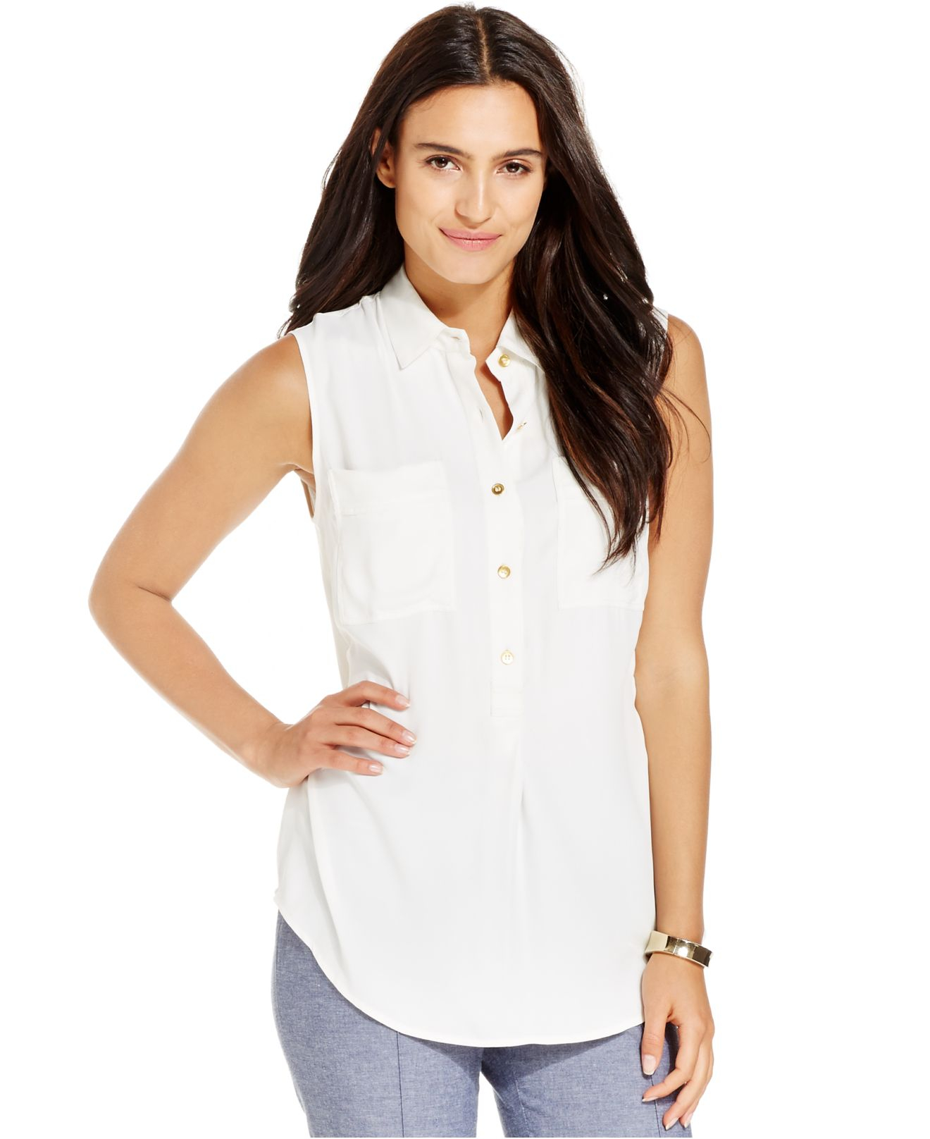 Find sleeveless button front blouse at ShopStyle. Shop the latest collection of sleeveless button front blouse from the most popular stores - all in.