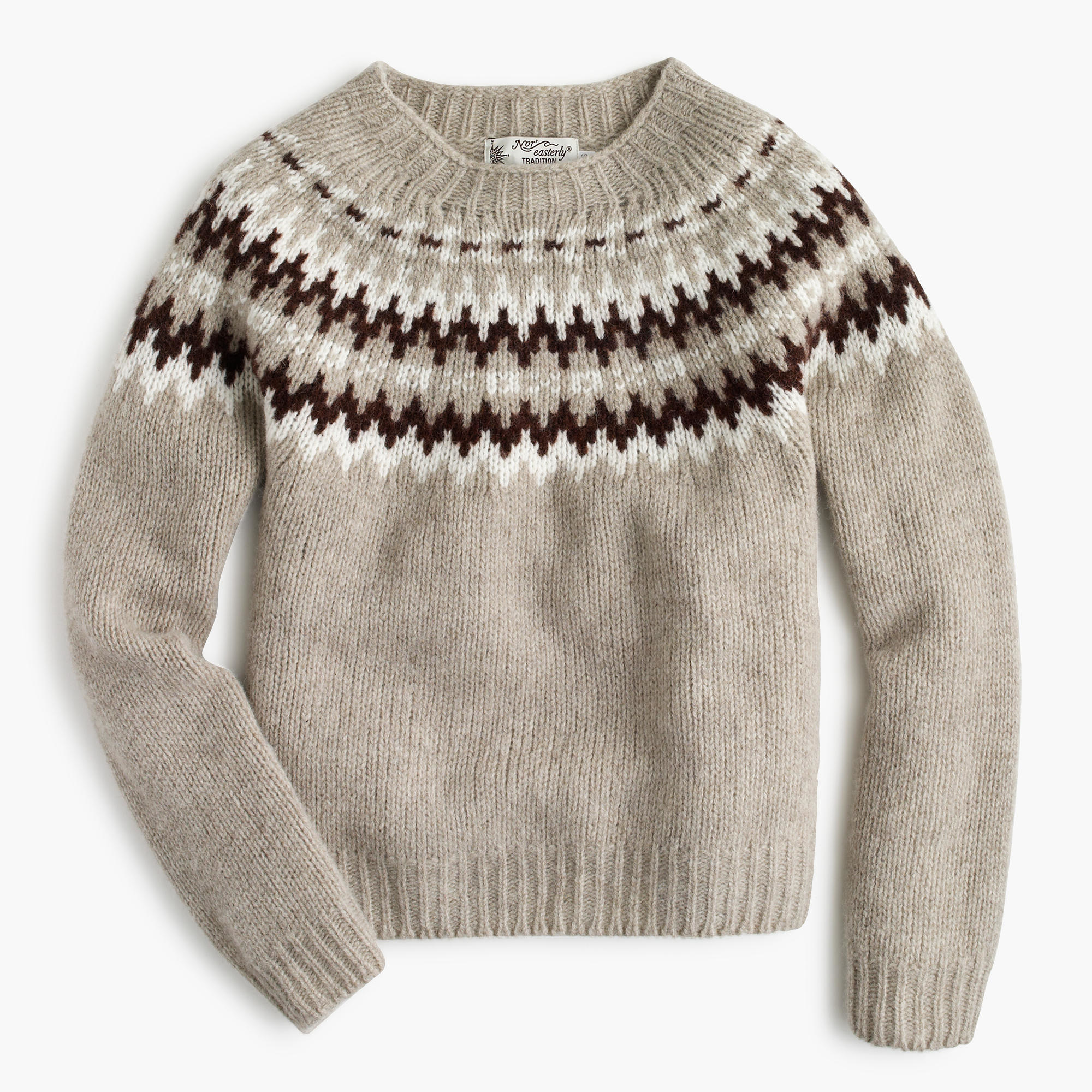 J.Crew Harley Of Scotland Nor easterly Sweater in Natural - Lyst 330abd19e