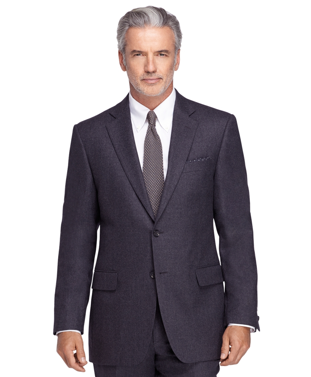 brooks brothers madison fit flannel 1818 suit in blue for