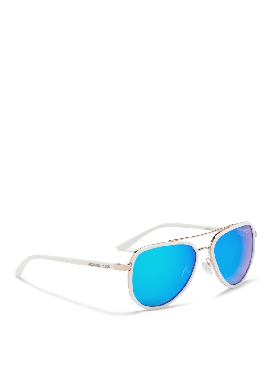 Michael Kors Mirrored Sunglasses  michael kors playa norte metal rim mirror aviator sunglasses in
