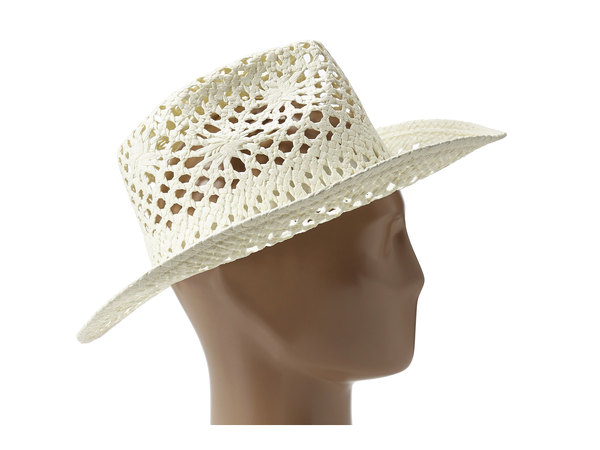 7ac99acbc88a7 San Diego Hat Company Pbc1008 Open Weave Cowboy Hat in White - Lyst
