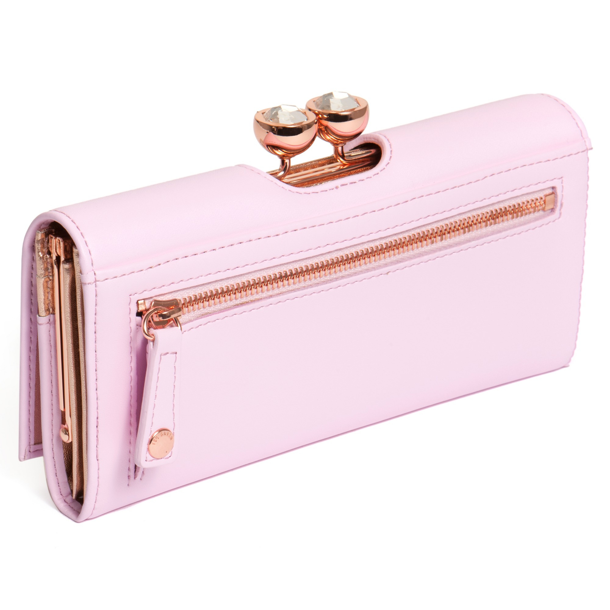 5791c18ef Ted Baker Kady Crystal Bobble Leather Matinee Purse In Pink Lyst. Gallery. Lyst  Ted Baker Small Patent ...