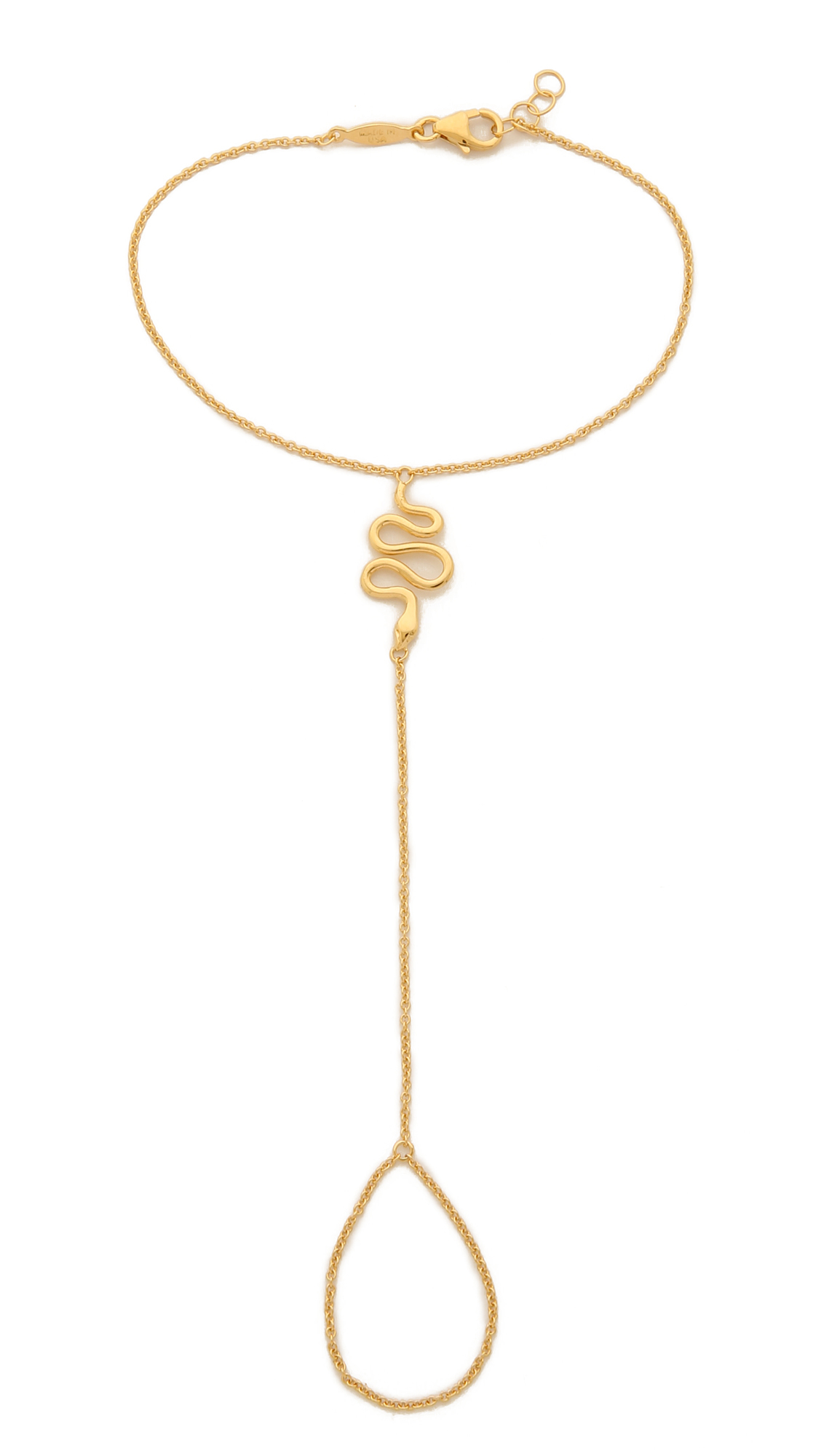 Jacquie Aiche 14-karat Rose Gold Diamond Finger Bracelet xgXPIkyT5