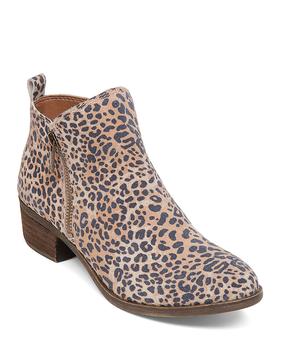 0f8df2f99f41 Lucky Brand Basel Leopard-Print Suede Boots - Lyst
