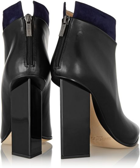 Where Can I Buy Jimmy Choo Ankle Booties - Shoes Jimmy Choo Legion Suedetrimmed Leather Ankle Boots Black