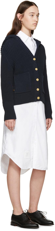 Thom browne white oxford shirt dress in white lyst for Thom browne white shirt