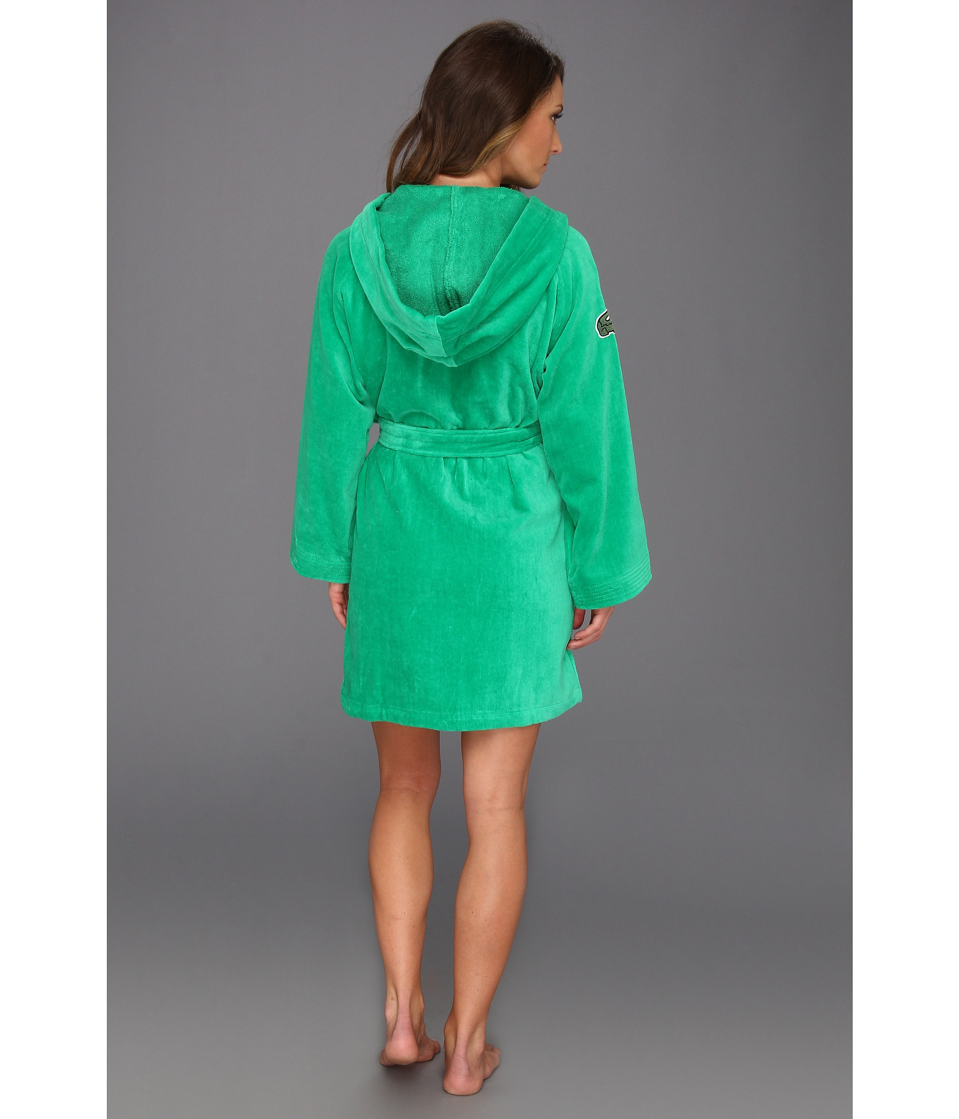 c59c734782 Lyst - Lacoste Smash Robe in Green