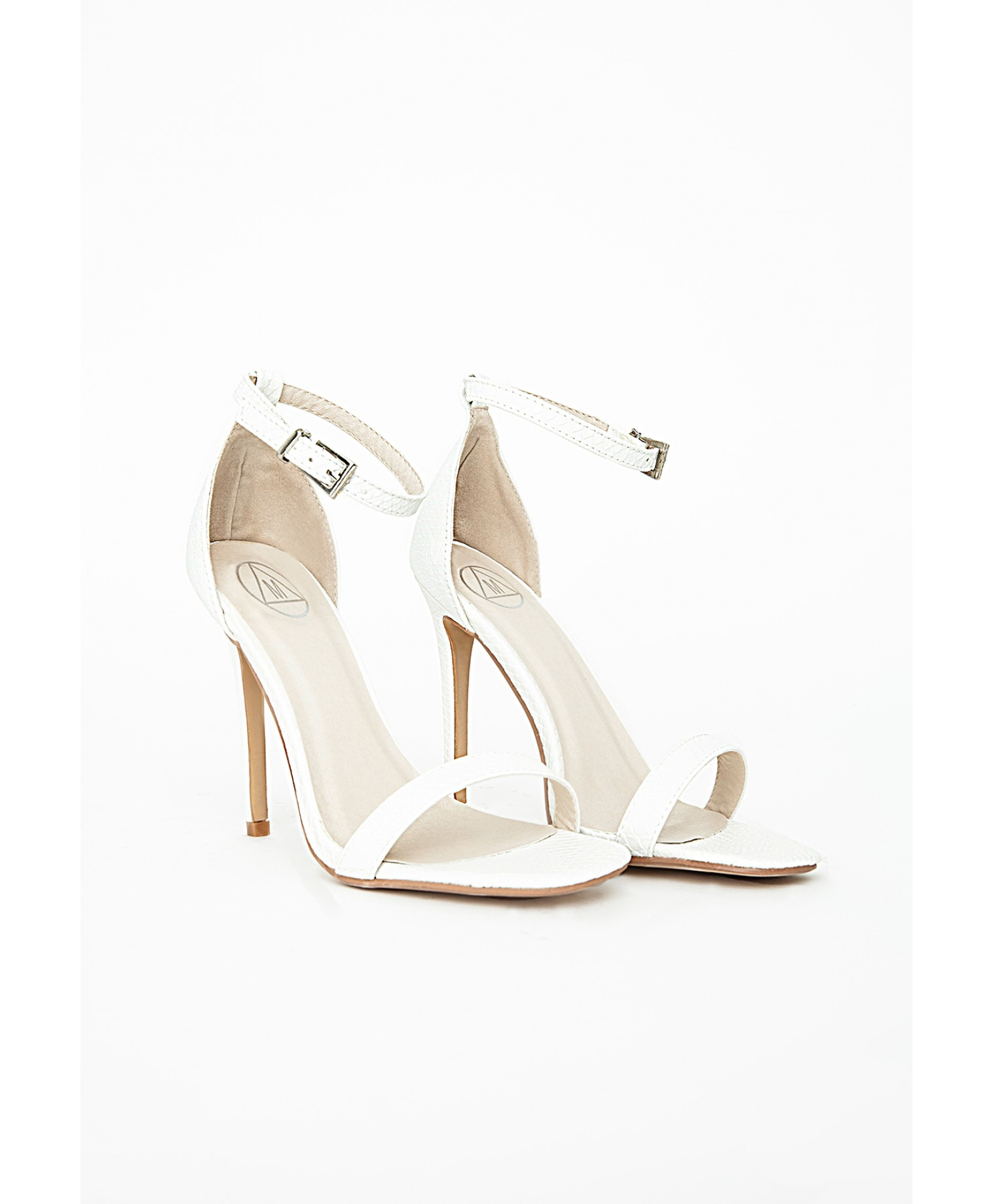 e958c2df241f Lyst - Missguided Clara Snakeskin White Strappy Sandals in White
