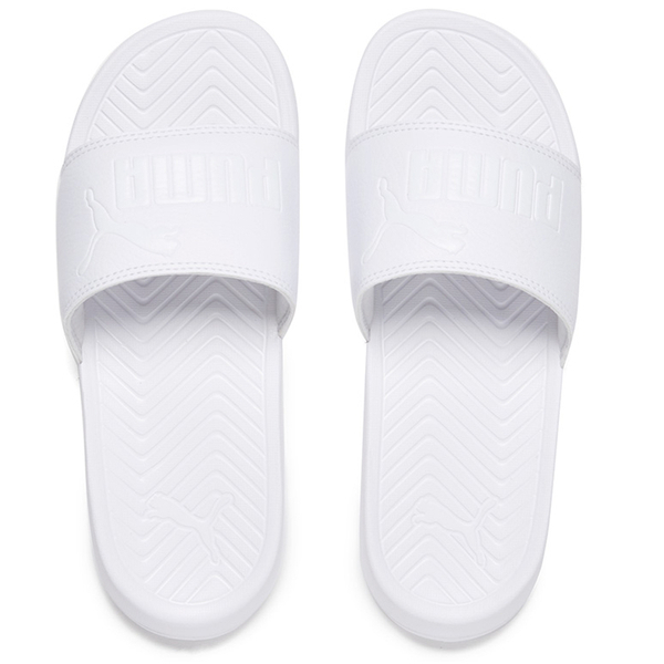 Puma Popcat Slide Sandals in White for Men | Lyst