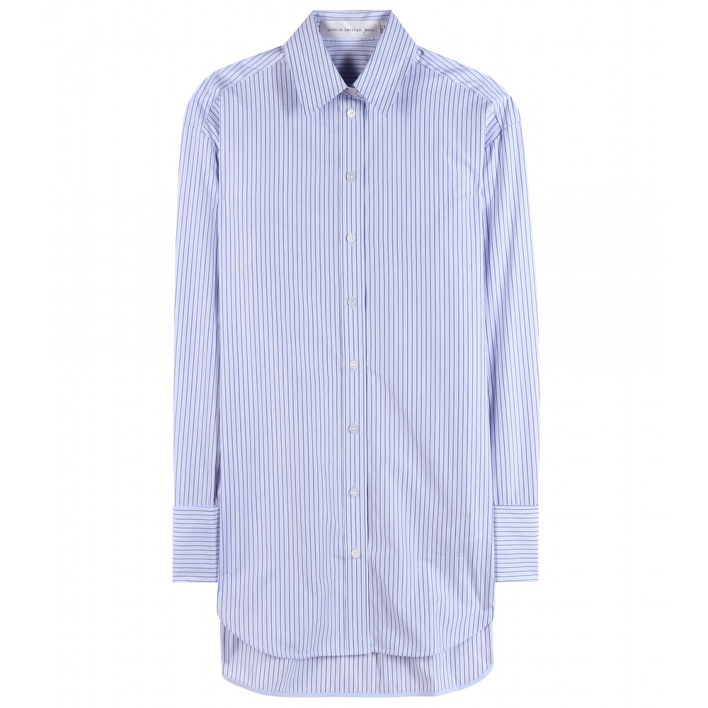 Lyst Victoria Beckham Striped Cotton Shirt In Blue