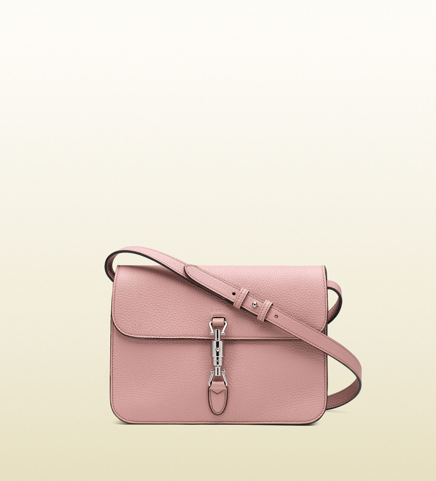 20a73587a69 Gucci Jackie Soft Leather Flap Shoulder Bag in Pink - Lyst
