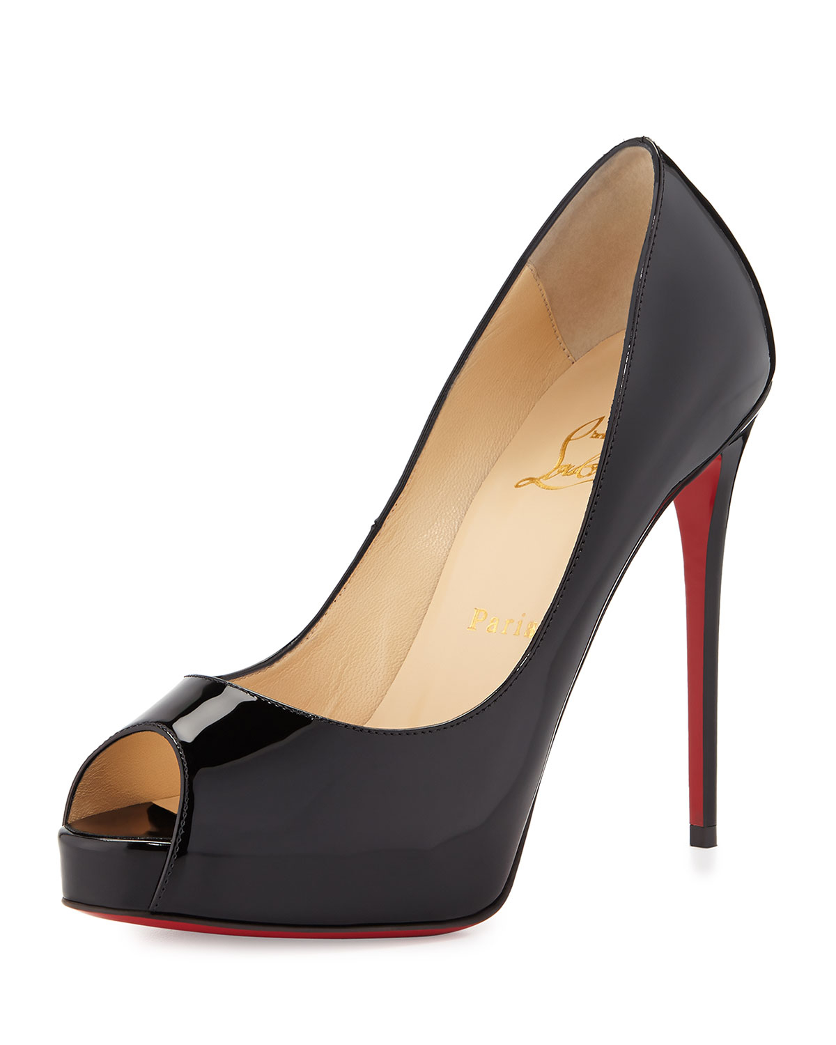 Black Patent Leather Shoes With Red Soles