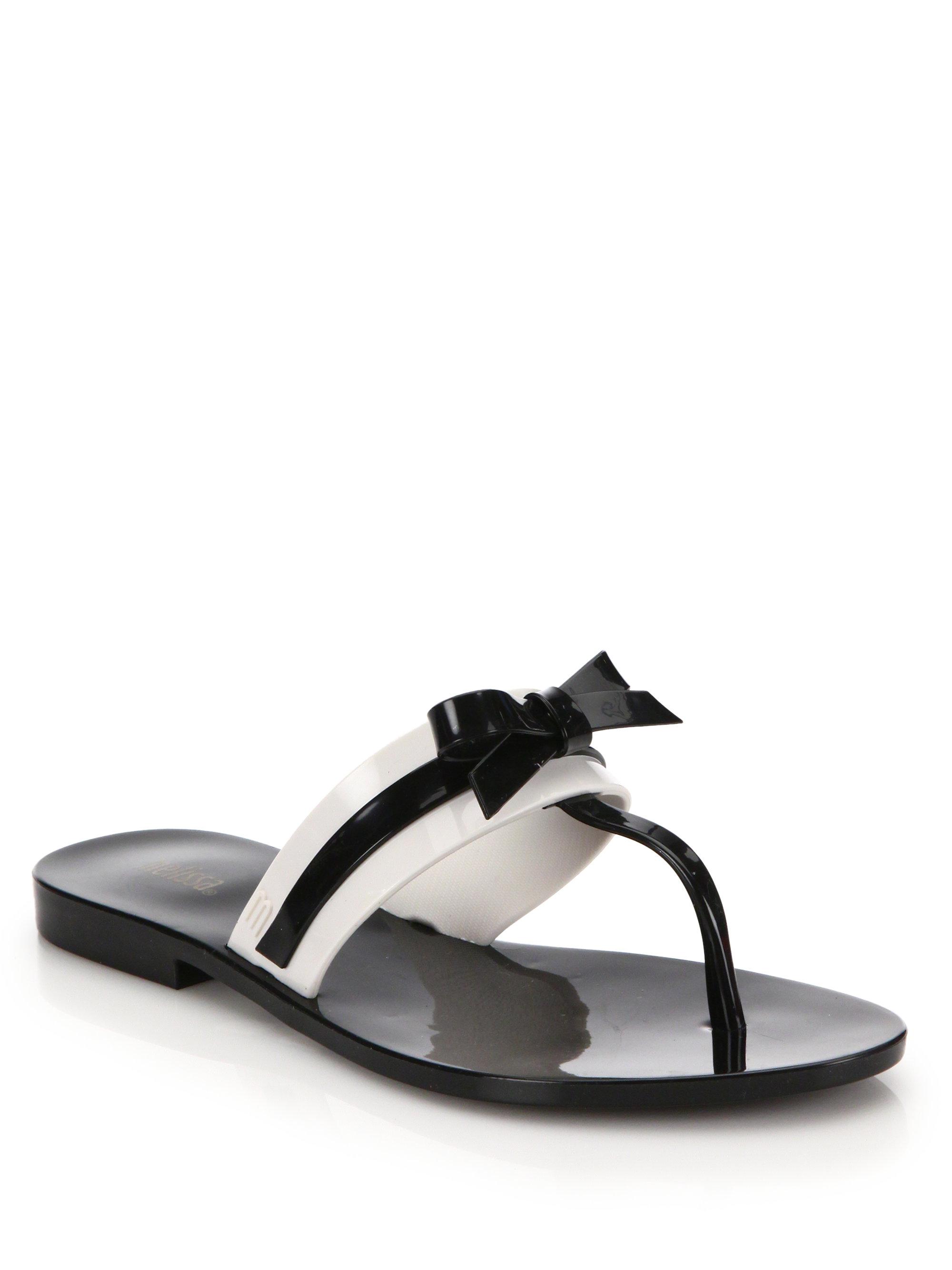 25457ee0cf51d2 Lyst - Melissa Garota T-strap Bow Sandals in Black