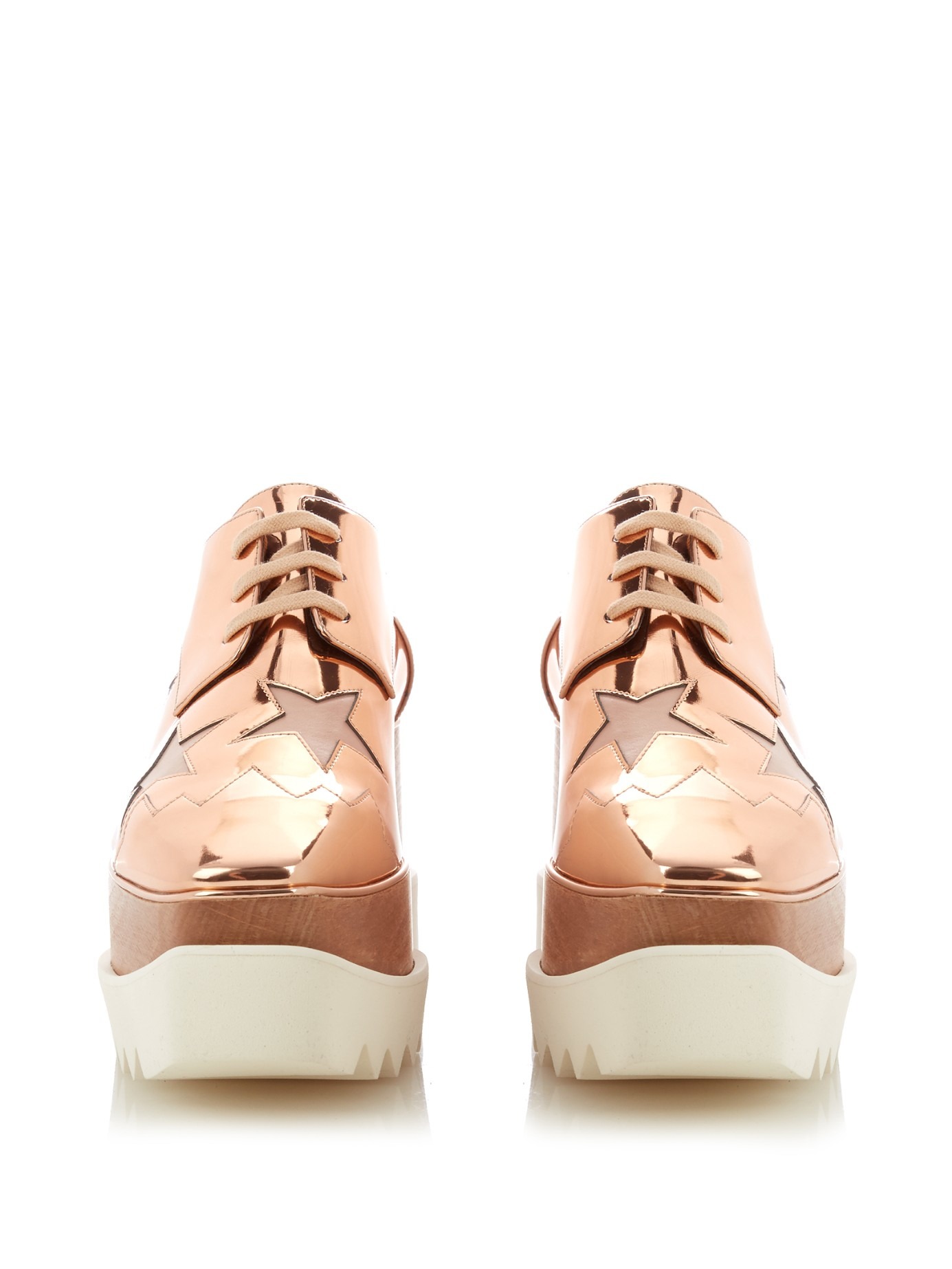 ec78553b00ec Stella McCartney Elyse Faux-Leather Platform Shoes in Pink - Lyst