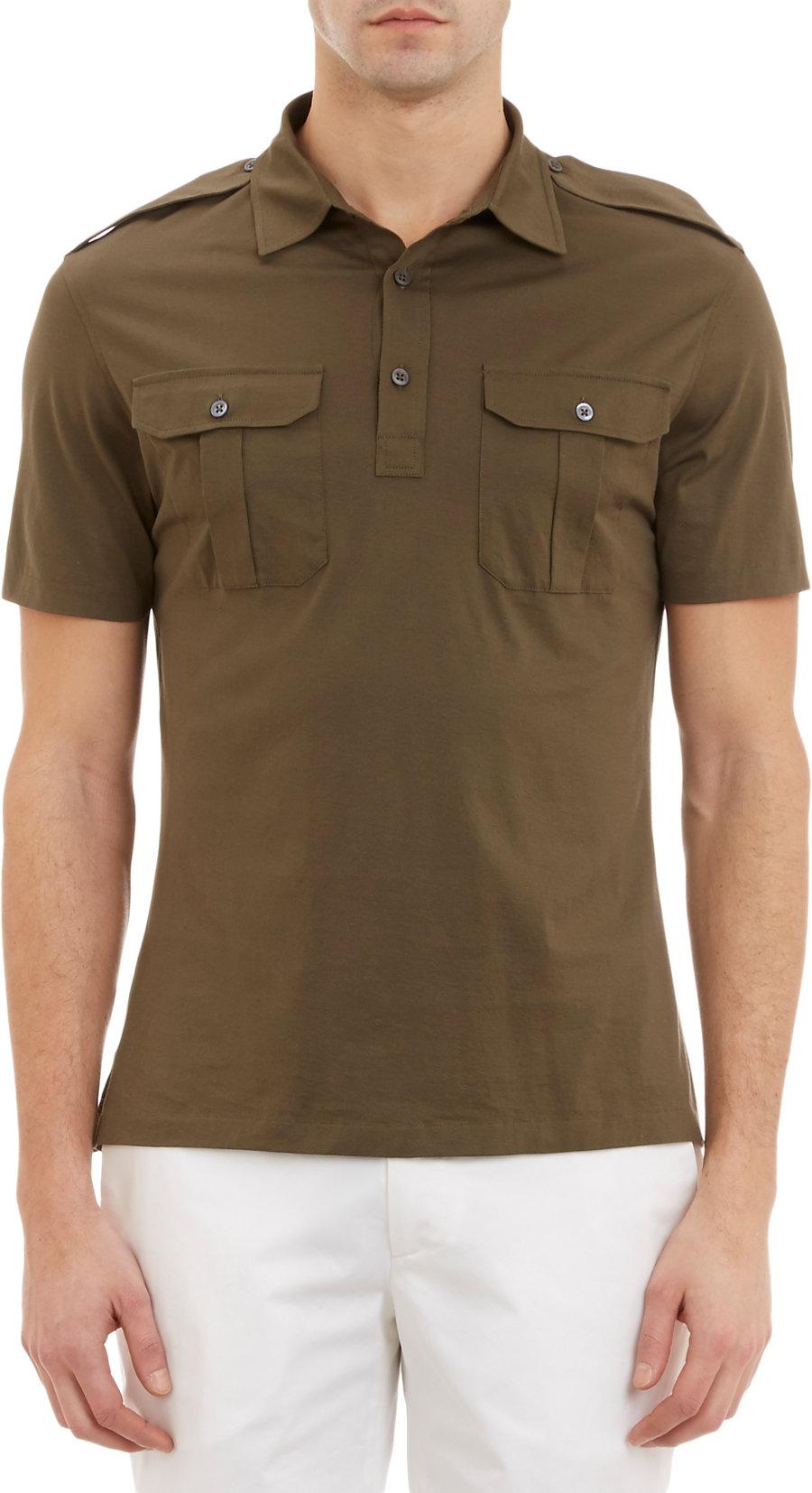 Lyst Ralph Lauren Black Label Epaulette Polo Shirt In