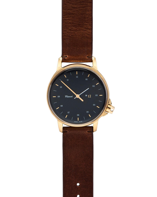 miansai m12 navy gold in brown lyst