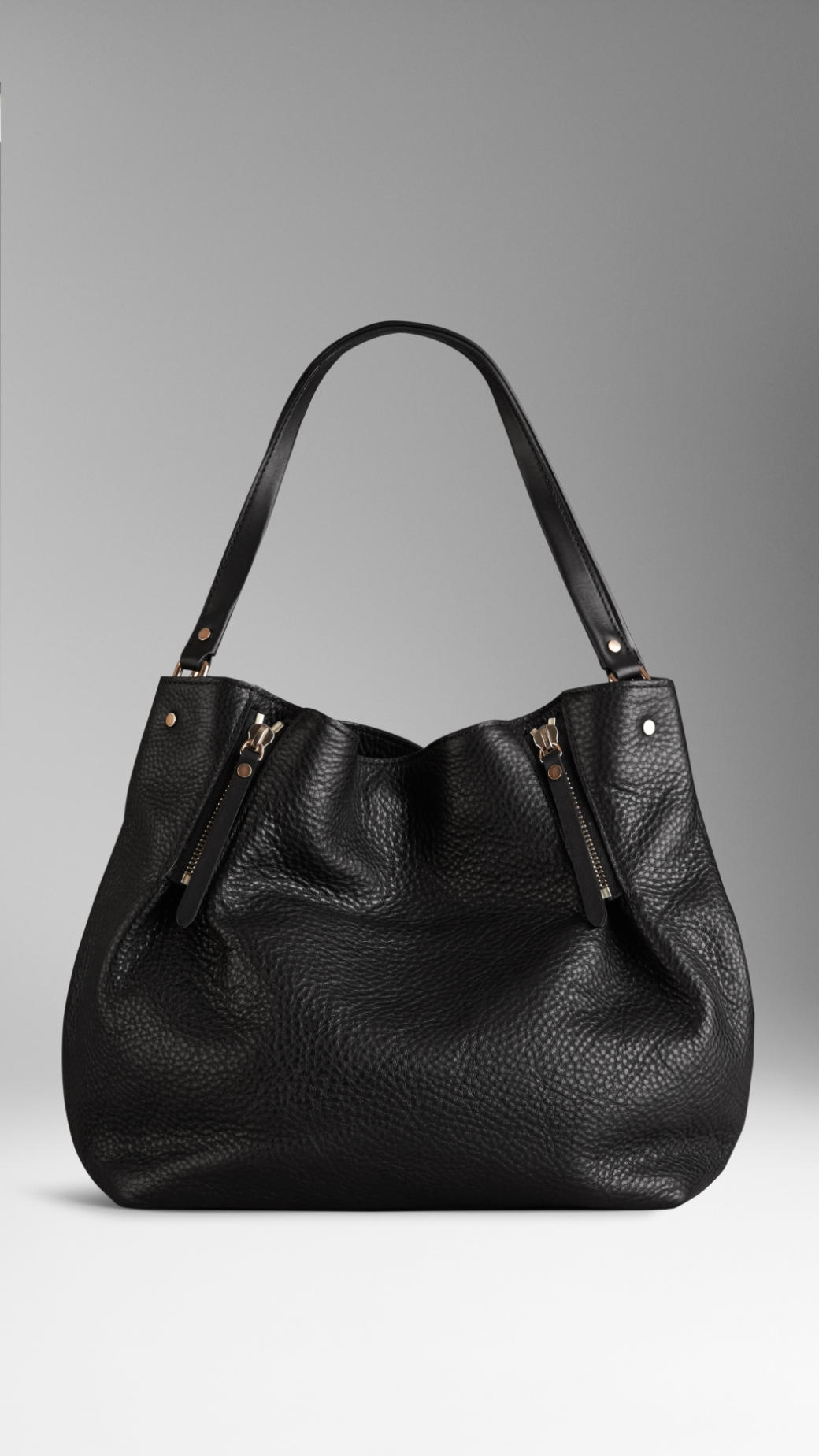 9b923386e Leather Tote Bag: Zip Leather Tote Bag