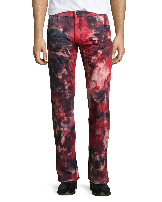 Robin's jean Tie-dye Studded Pocket Denim Jeans in Red for Men | Lyst
