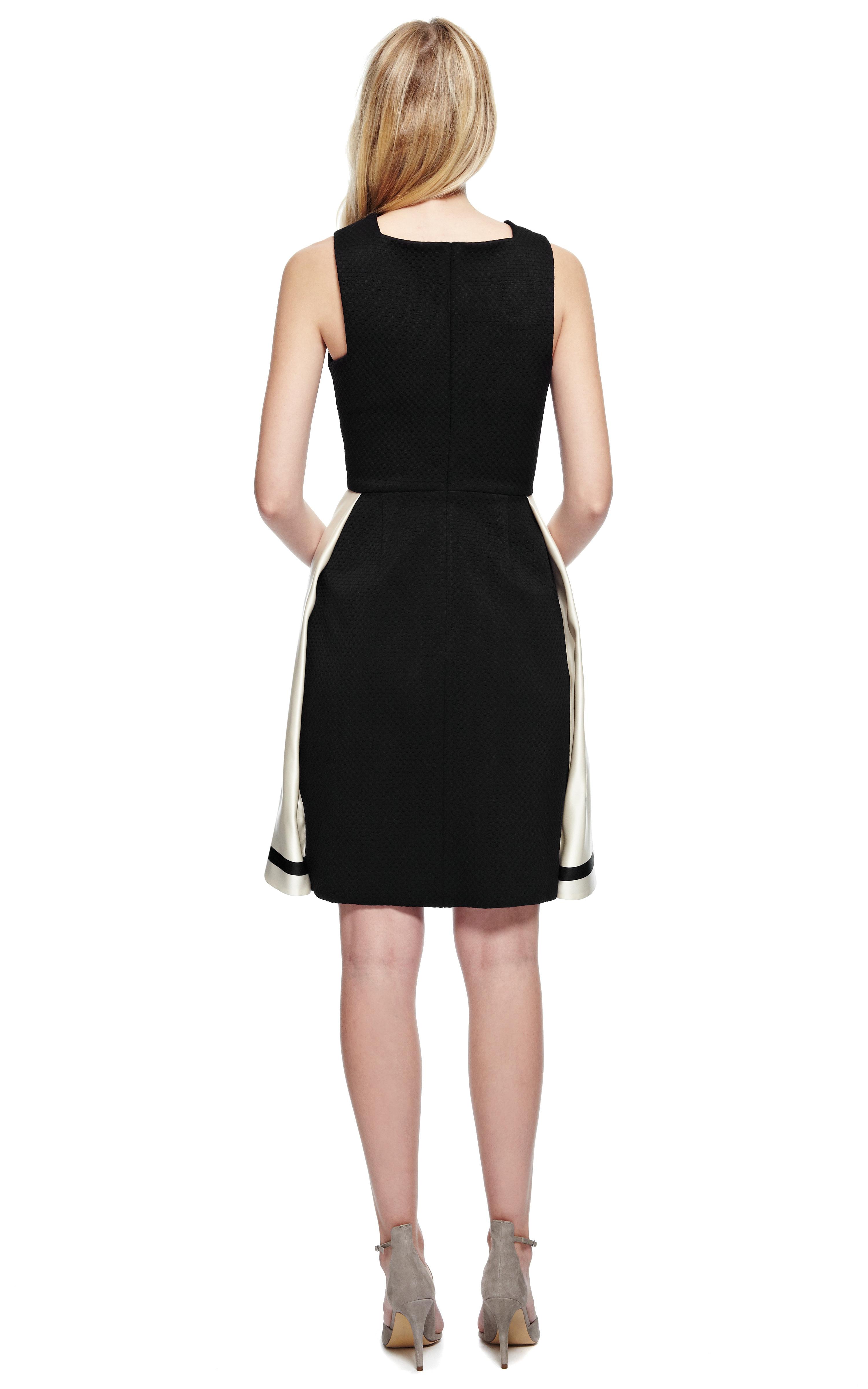 Lyst Katie Ermilio Box Pleat Party Dress In Black