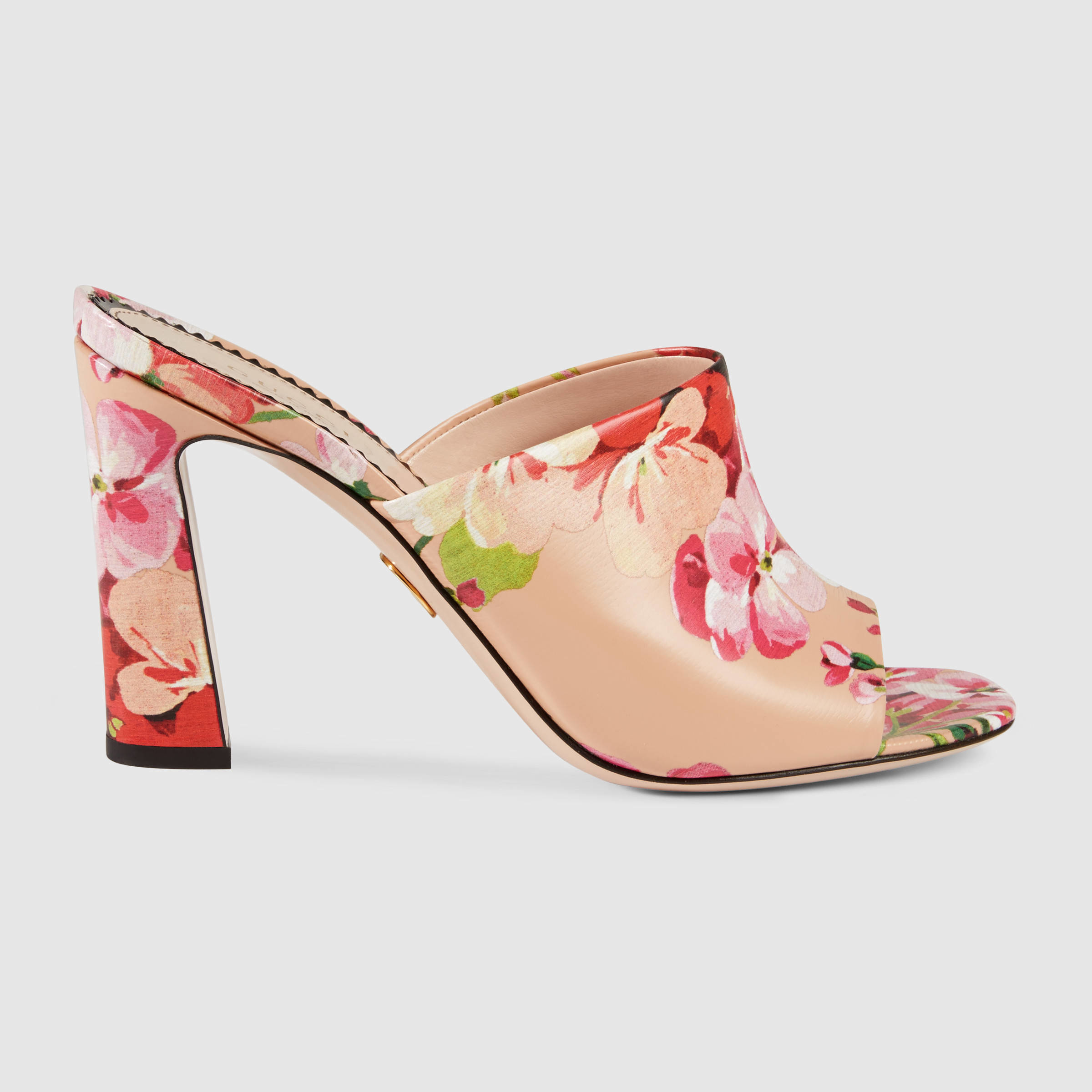 18e45a099e1 Gucci Blooms Print Sandal - Lyst