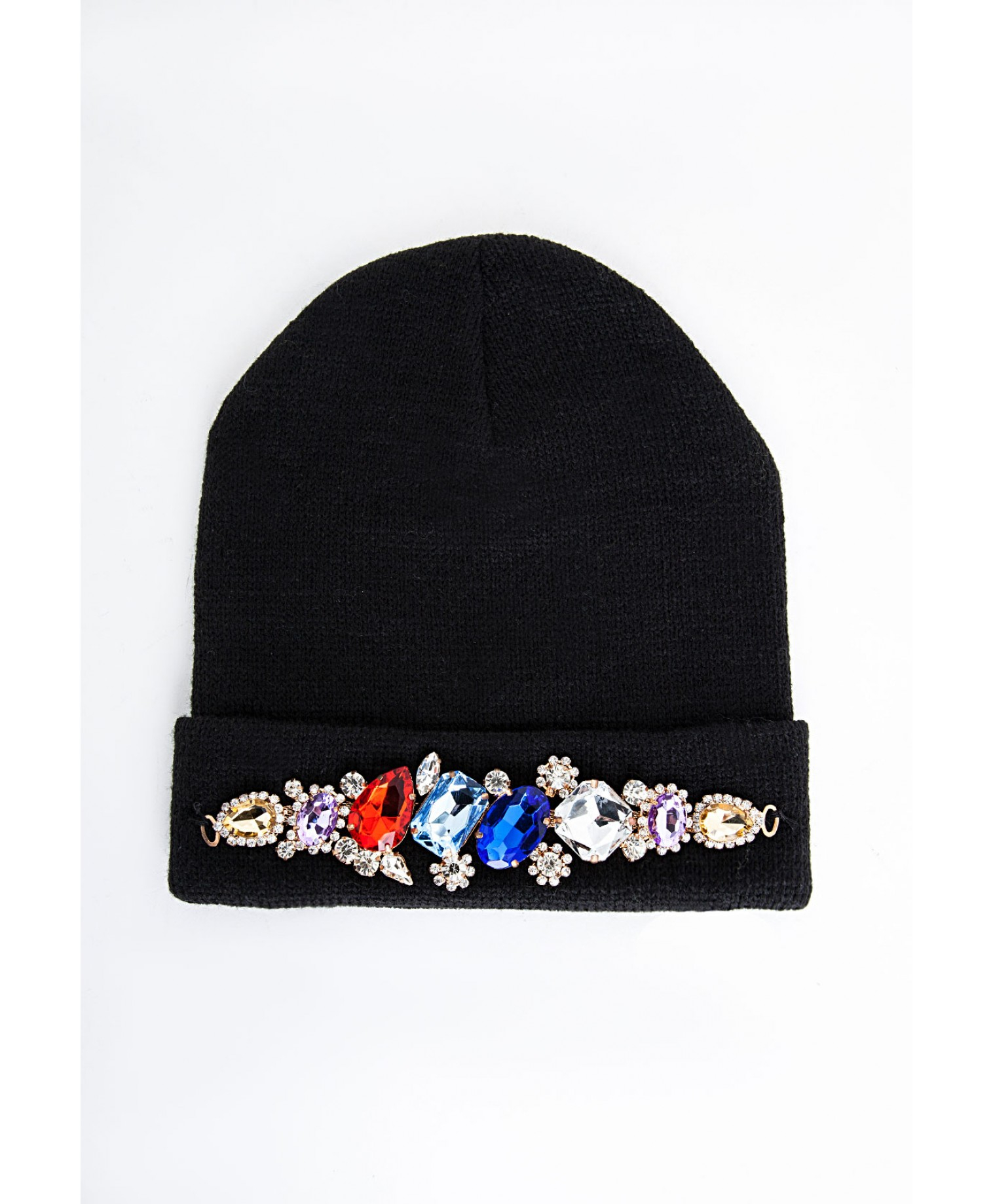0ad2962dc13 Lyst - Missguided Alena Crystal Embellished Beanie Hat Black in Black