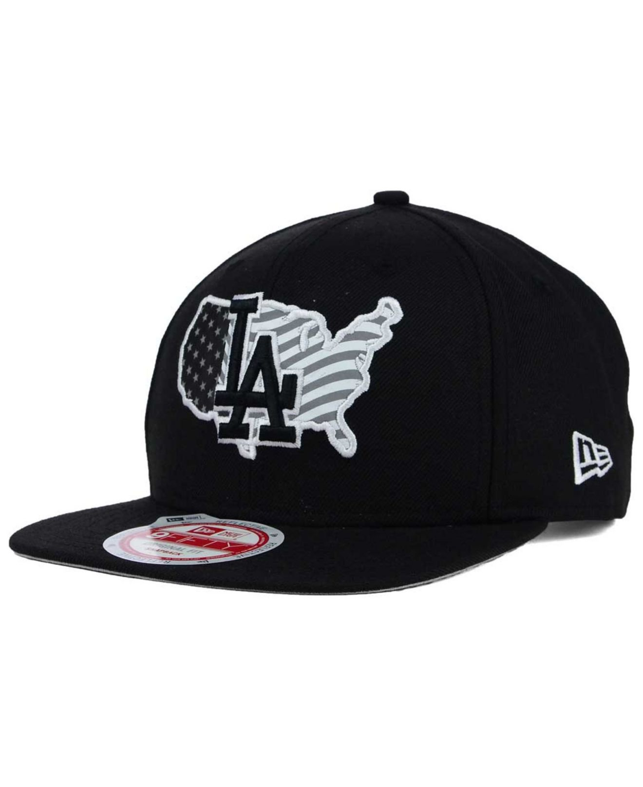 Lyst - KTZ Los Angeles Dodgers Usa Reflective 9fifty Snapback Cap in ... 3546e10781df
