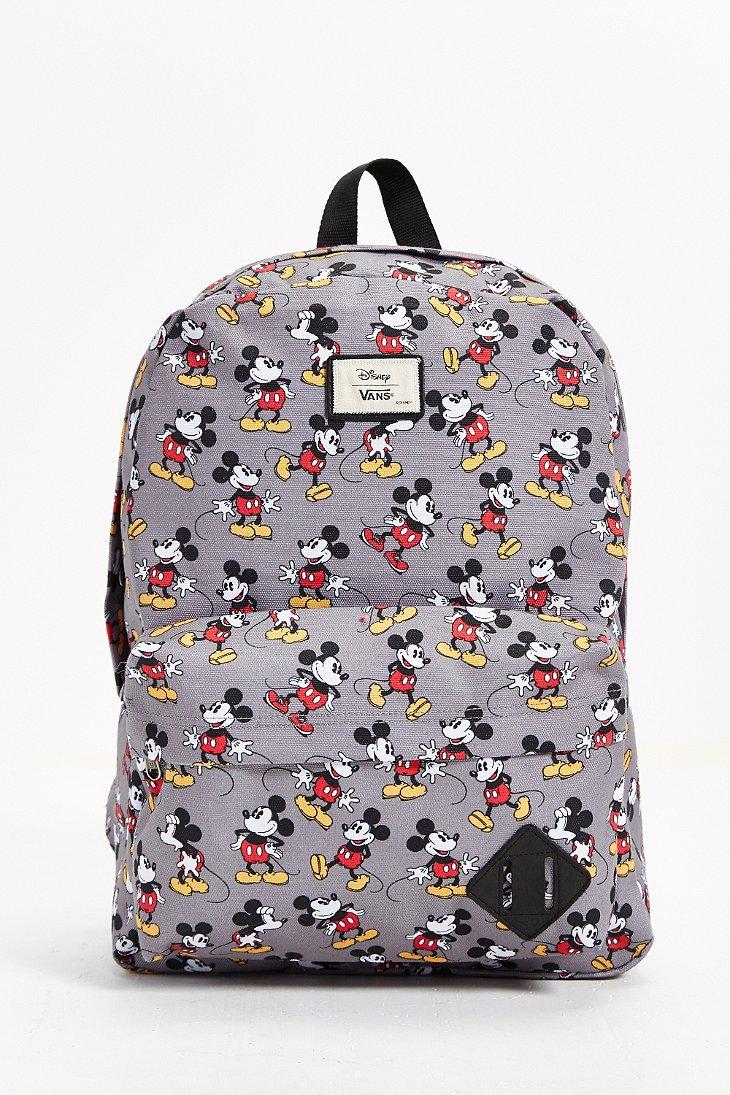 Lyst Vans Disney Old Skool Ii Backpack In Gray For Men