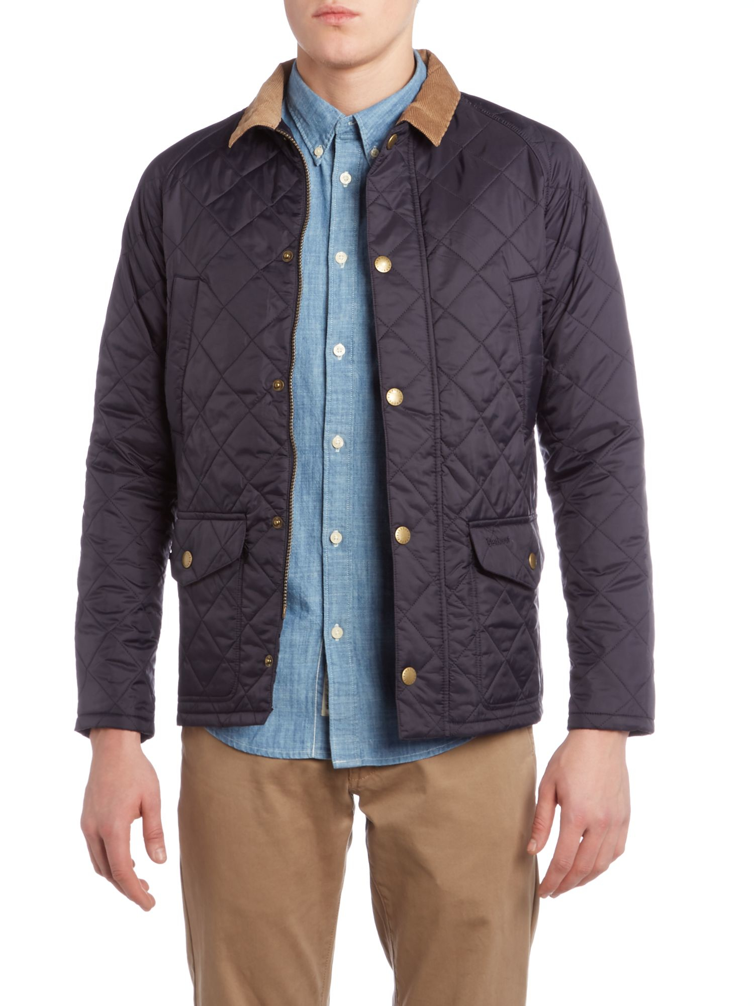 Barbour Canterdale Quilted Jacket In Blue For Men Lyst