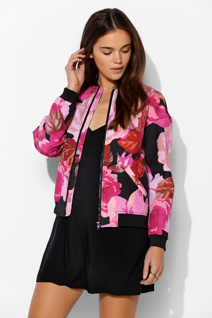 Cameo Lift Off Floral Bomber Jacket | Lyst