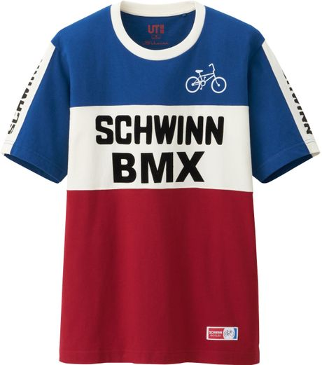 Uniqlo Men Schwinn Graphic Short Sleeve T Shirt in Blue for Men - Lyst