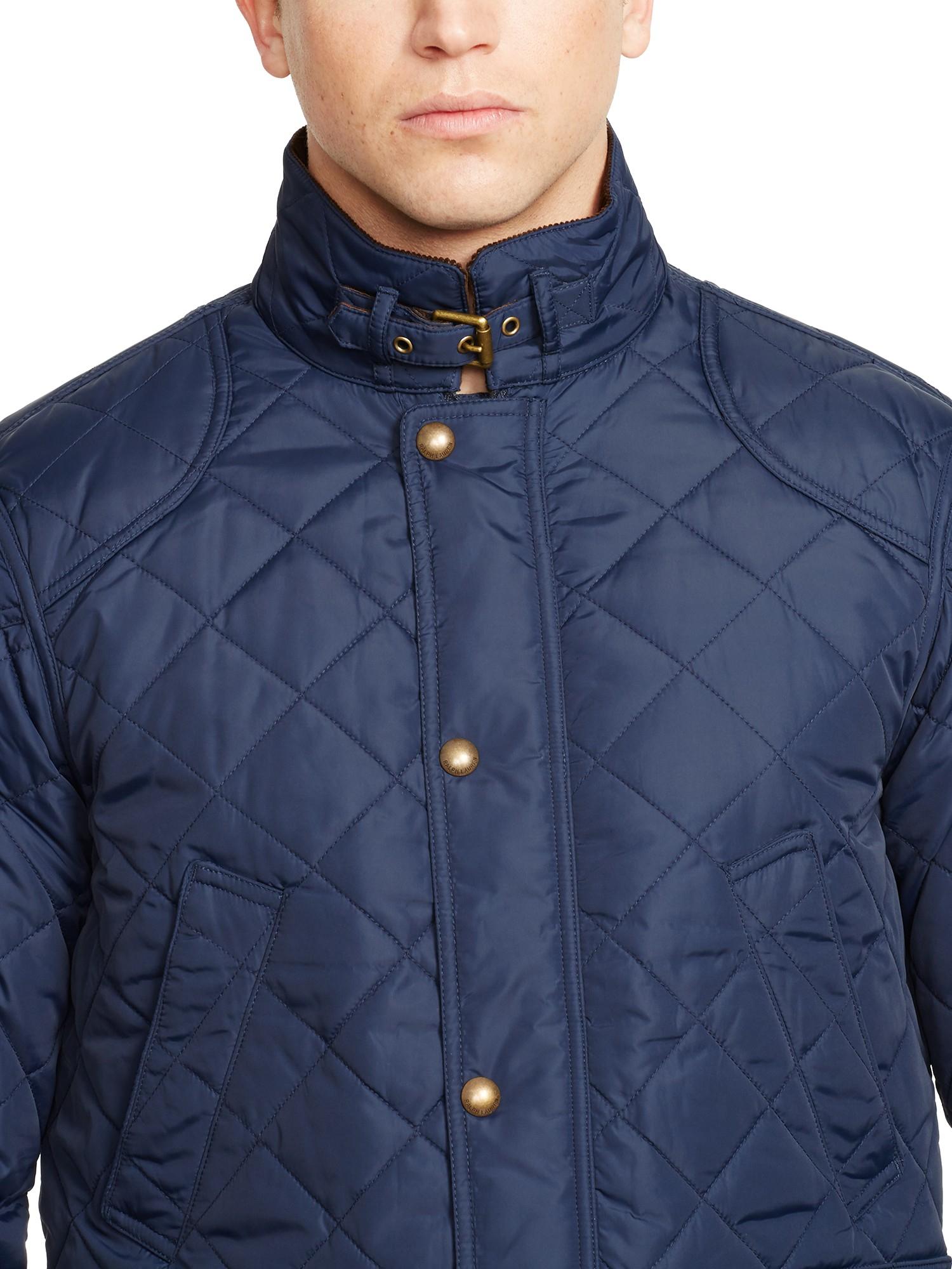 Ralph Lauren Olkalaukku : Polo ralph lauren cadwell quilted bomber jacket in blue