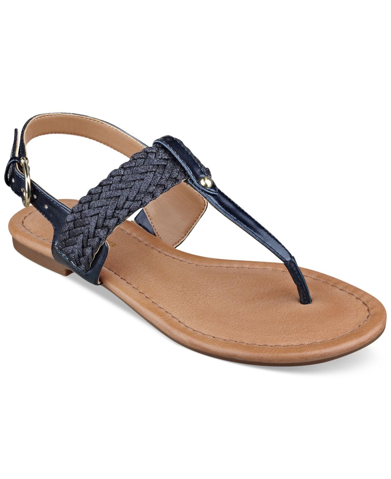 0efc23db828a Lyst - Tommy Hilfiger Women S Saycn Flat Thong Sandals in Blue