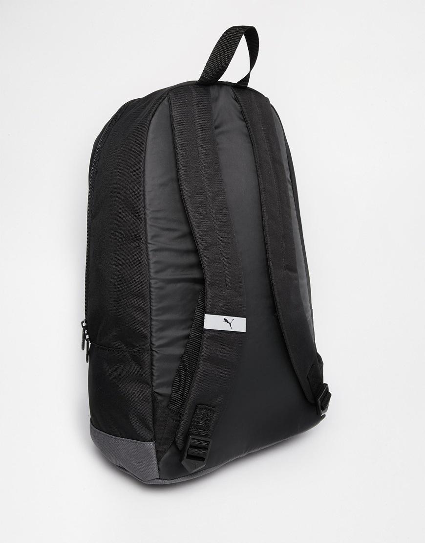 puma pioneer ii backpack in black for men lyst