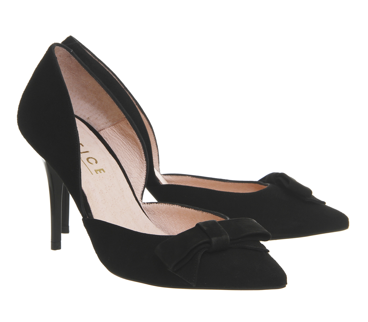 office wilma bow court shoes in black lyst