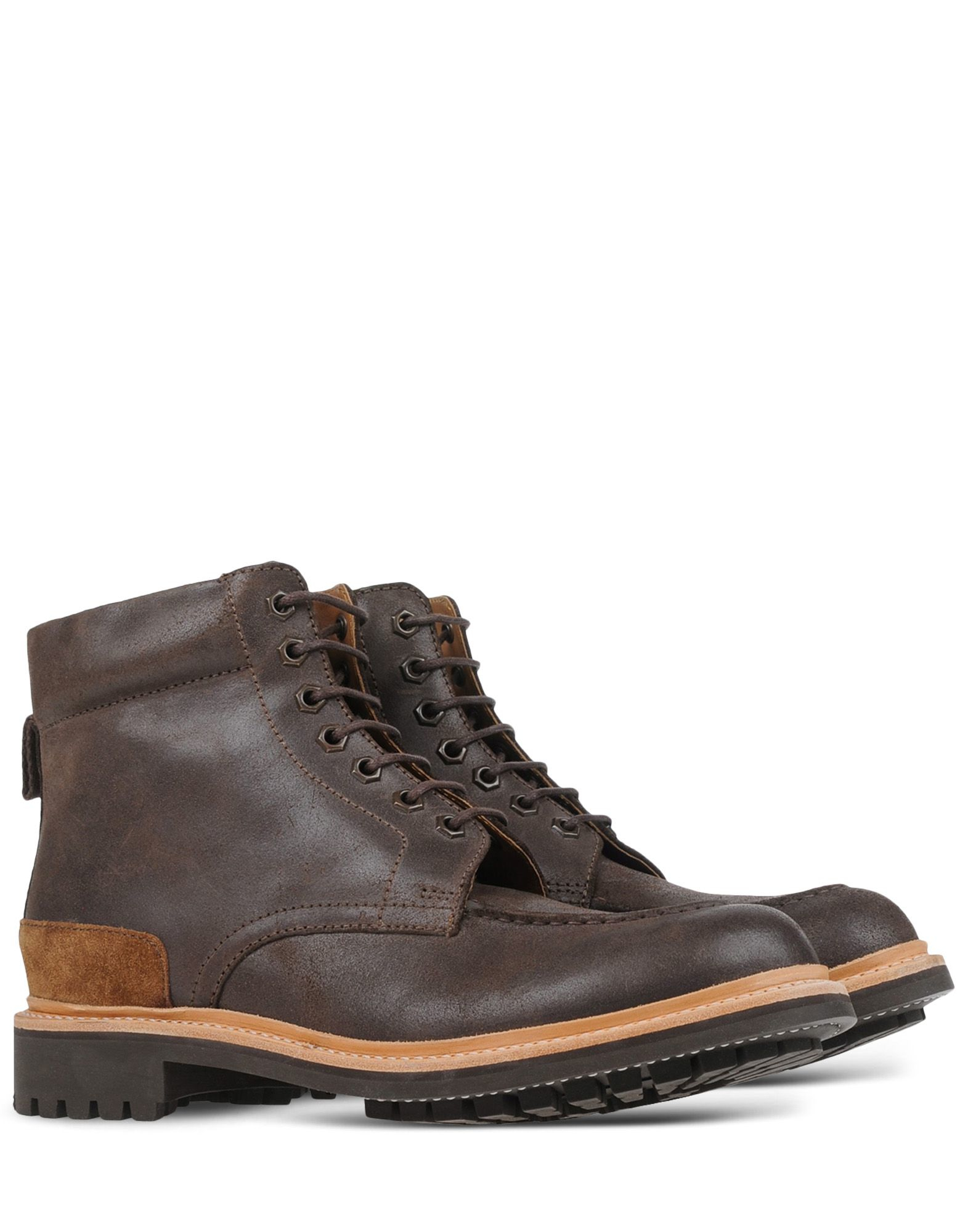 grenson ankle boots in brown for brown lyst