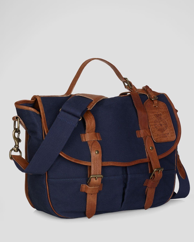 13a296041072 Lyst - Polo Ralph Lauren Canvas Messenger Bag in Blue for Men