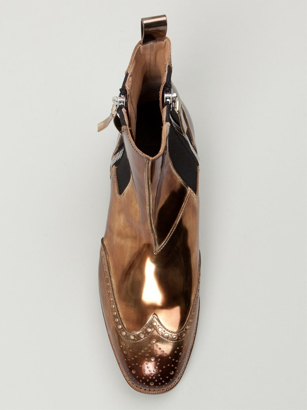 Lyst Premiata Metallic Chelsea Boots In Metallic For Men