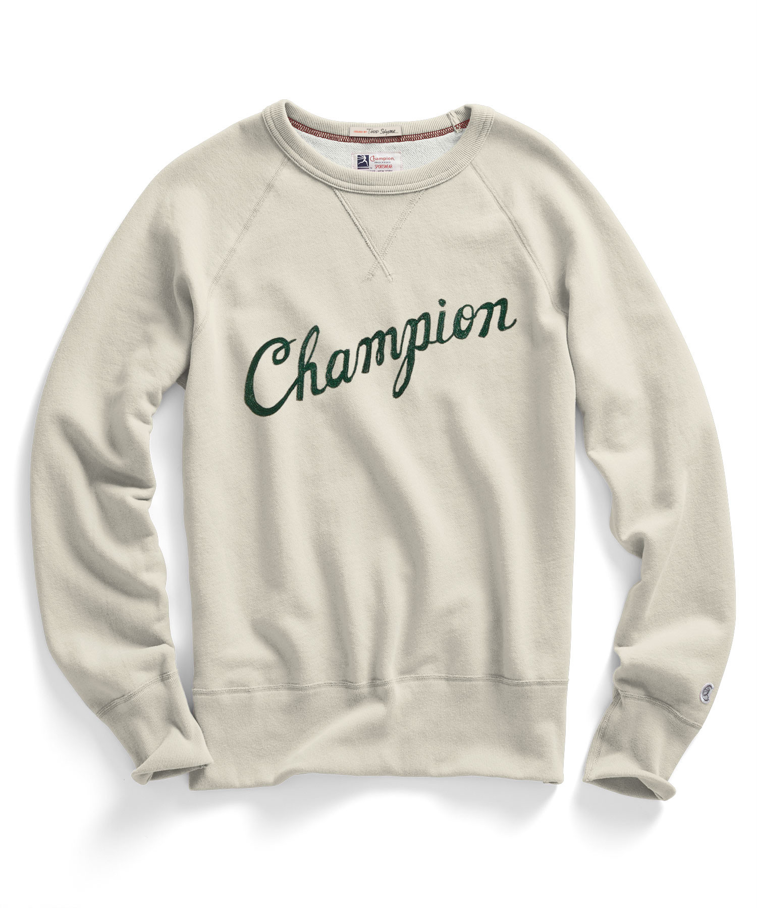 todd snyder champion embroidered sweatshirt in natural for. Black Bedroom Furniture Sets. Home Design Ideas