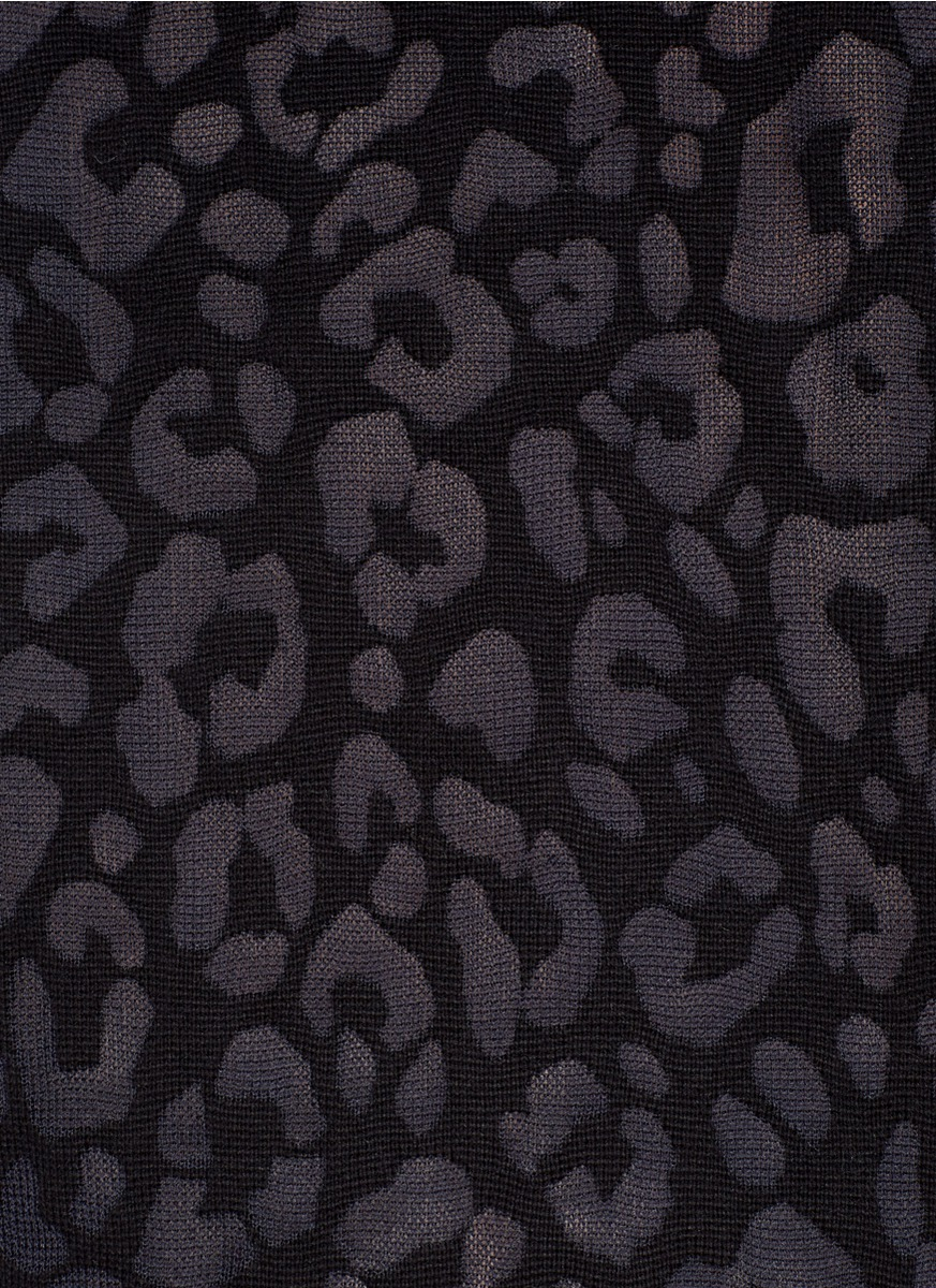 Lyst - Theory Jaidyn Leopard Print Sweater in Black - photo#18