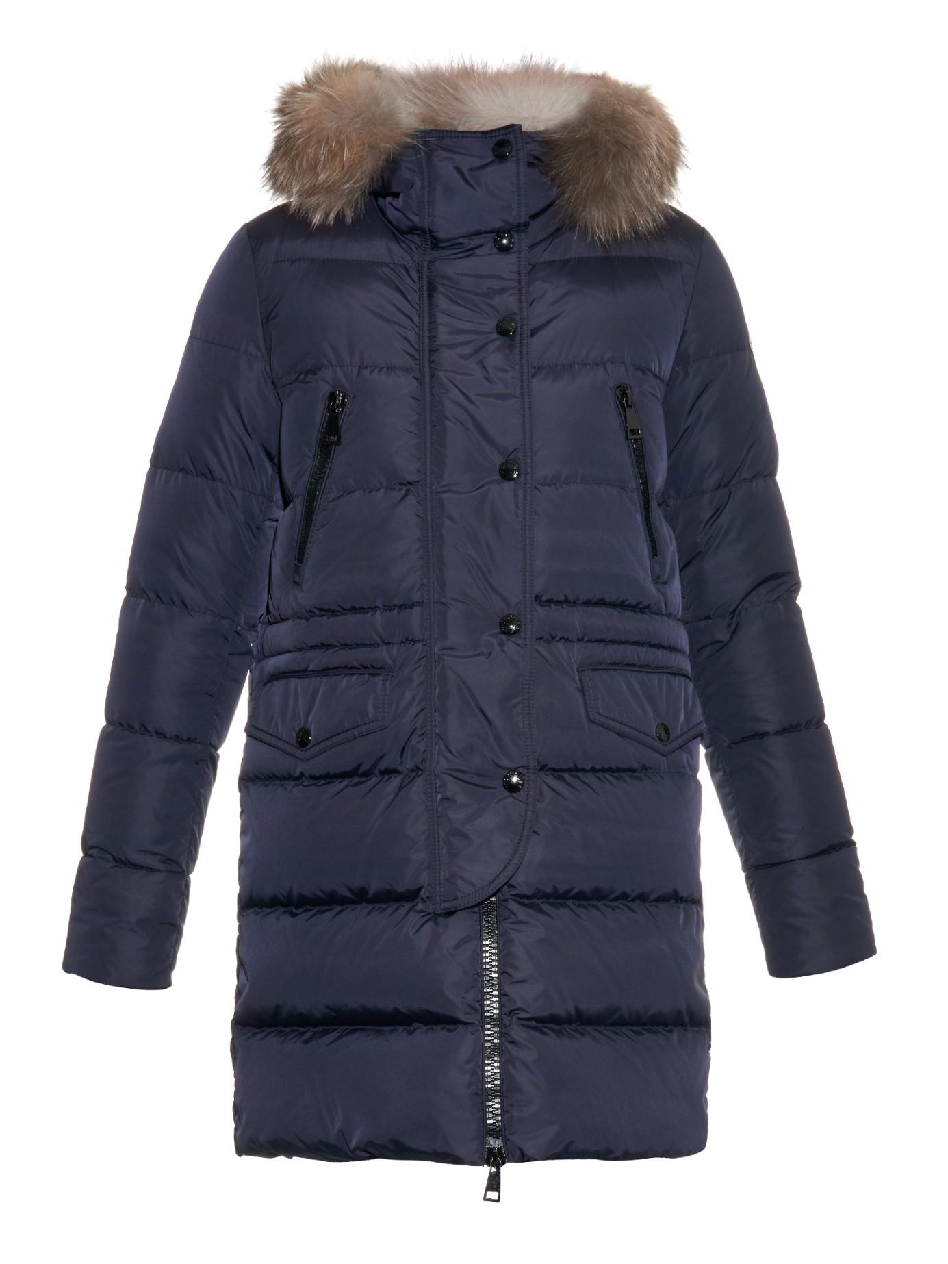 moncler fur trim coat