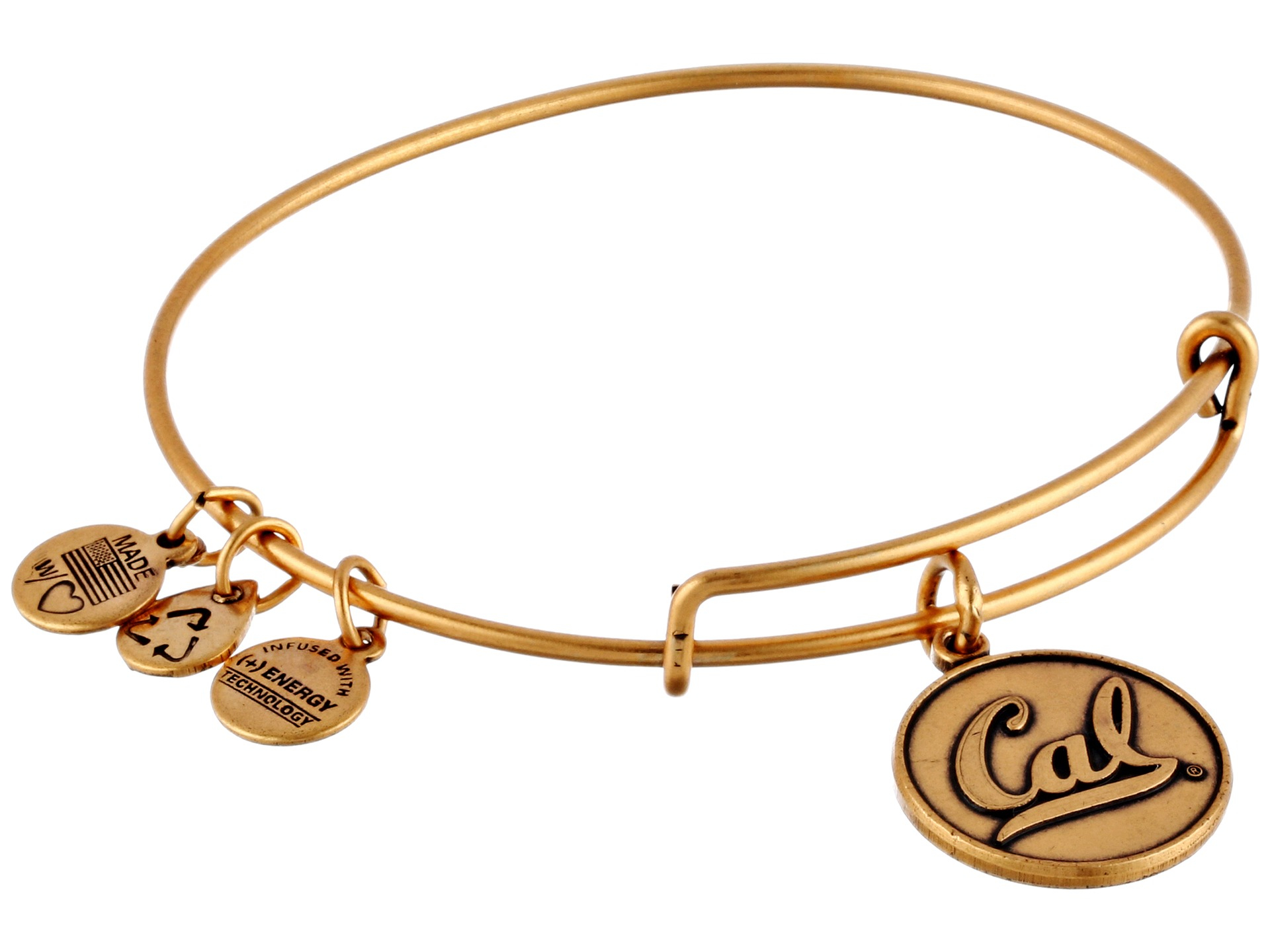 Alex and ani University California Berkeley Logo Charm Bangle