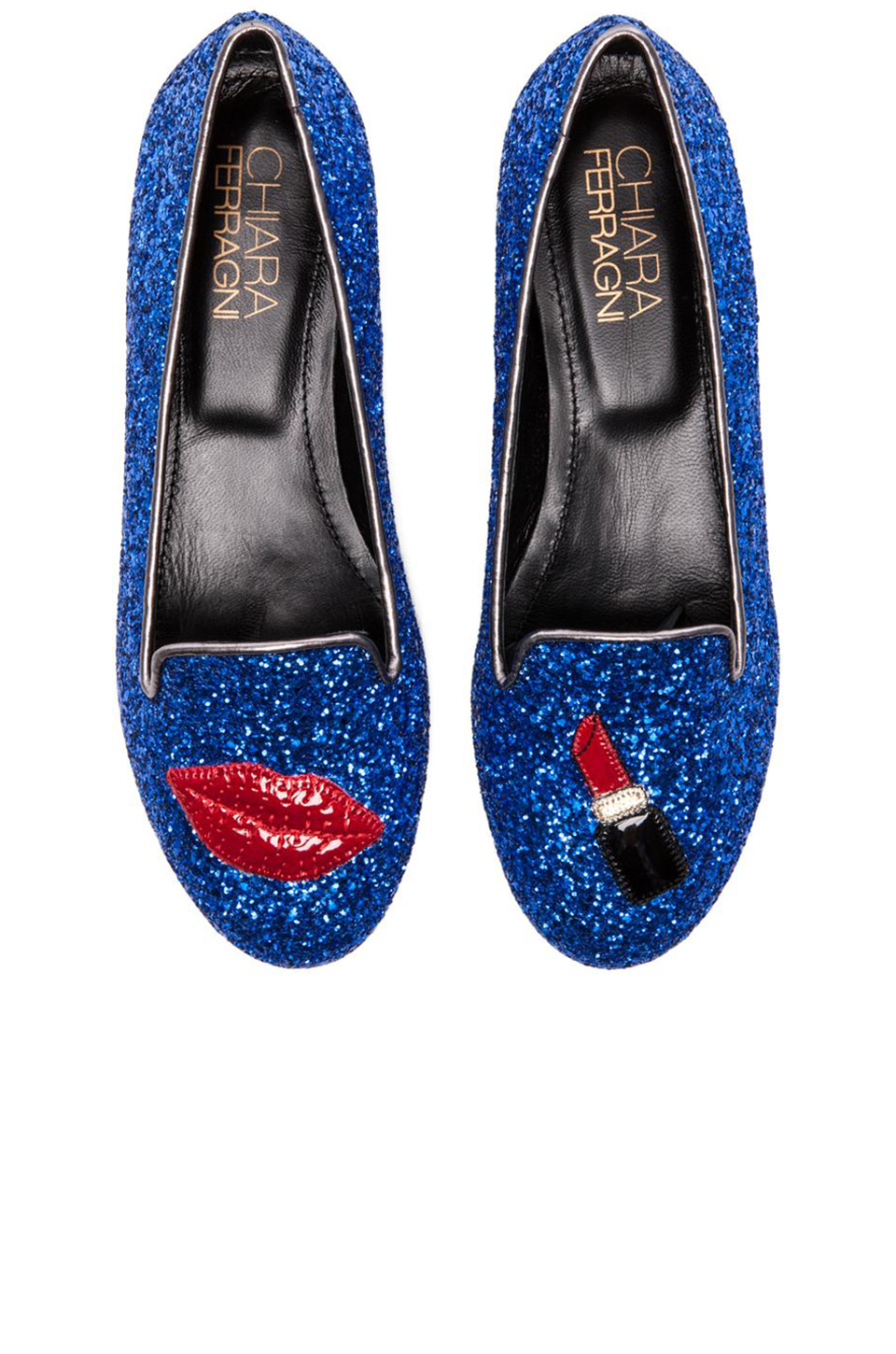 chiara ferragni lipstick lips slippers in blue lyst. Black Bedroom Furniture Sets. Home Design Ideas